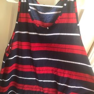 Tops - Striped sleeveless shirt